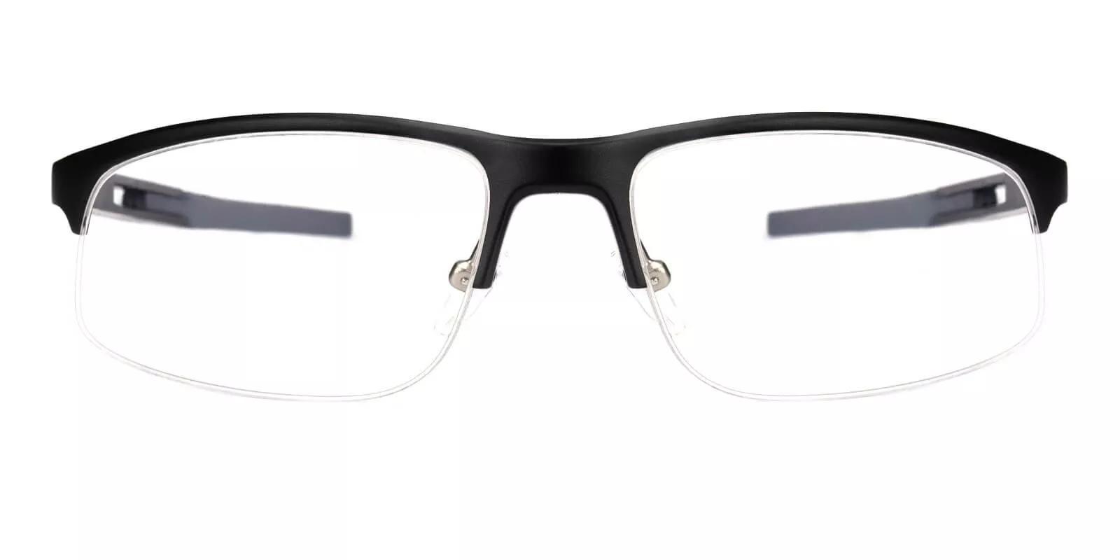 Greyson Black Metal Eyeglasses , NosePads , SportsGlasses , SpringHinges Frames from ABBE Glasses
