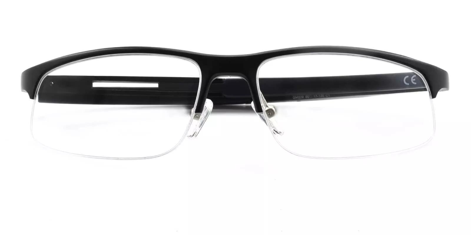 Greyson Black Metal SportsGlasses , SpringHinges , Eyeglasses , NosePads Frames from ABBE Glasses