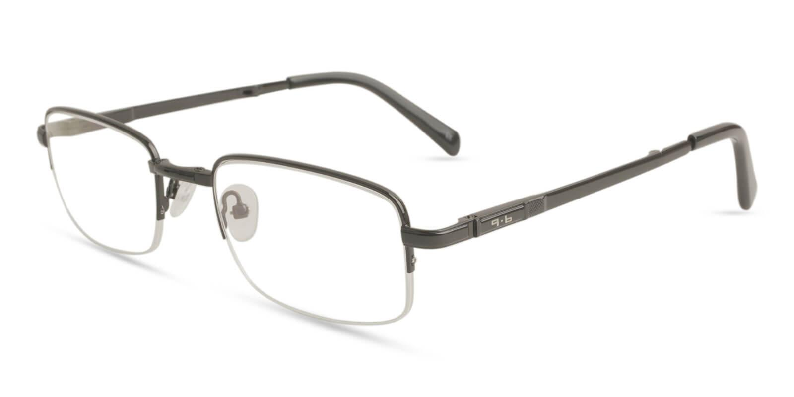 Carson Black Metal NosePads , Eyeglasses , Foldable Frames from ABBE Glasses