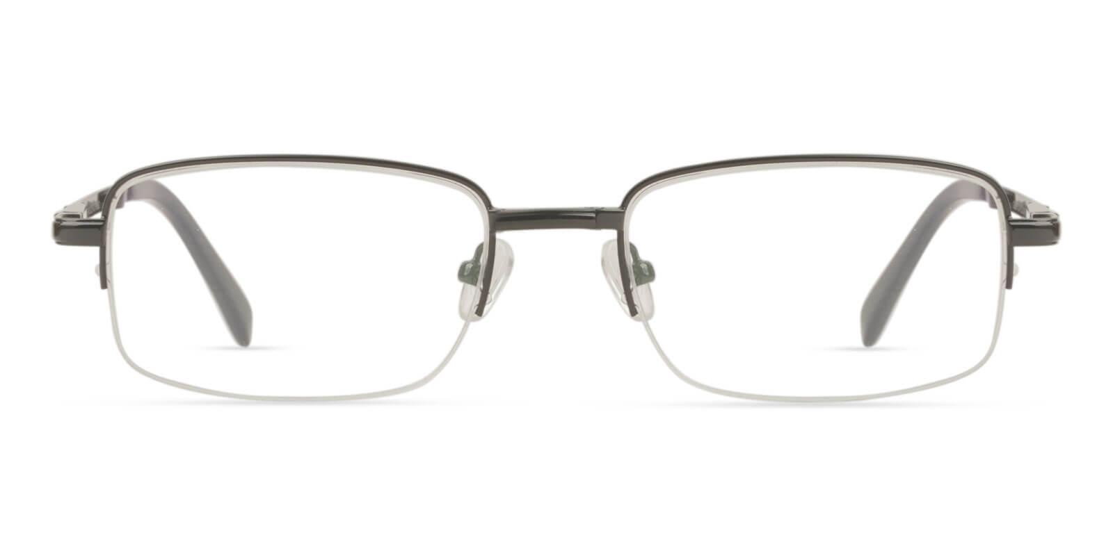 Carson Black Metal Eyeglasses , Foldable , NosePads Frames from ABBE Glasses