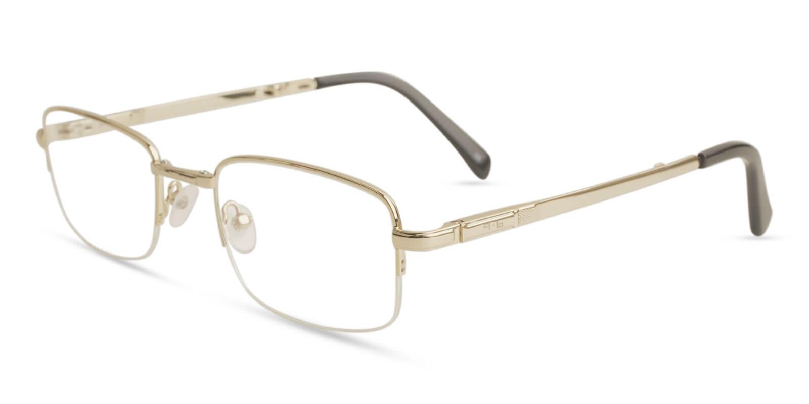 Carson Gold Metal Eyeglasses , Foldable , NosePads Frames from ABBE Glasses
