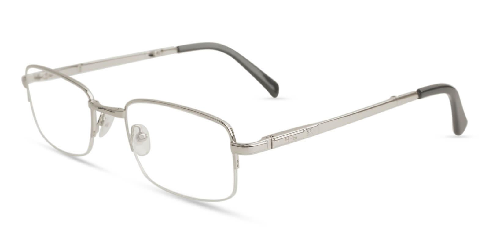 Carson Silver Metal Eyeglasses , Foldable , NosePads Frames from ABBE Glasses