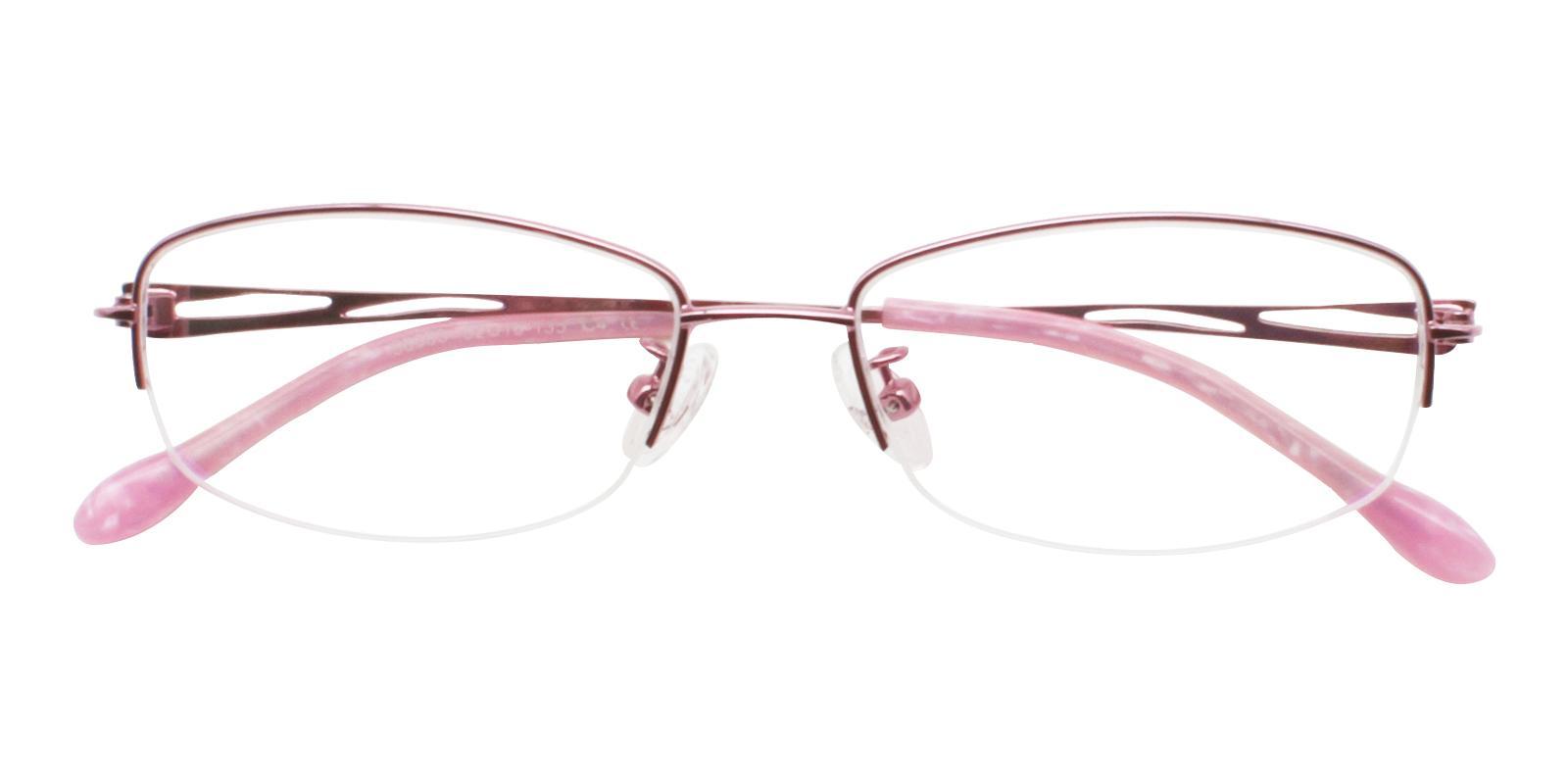 Elizabeth Pink Metal Eyeglasses , NosePads Frames from ABBE Glasses