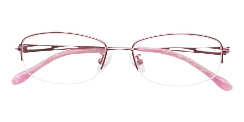 Pink Elizabeth - Metal Eyeglasses , NosePads