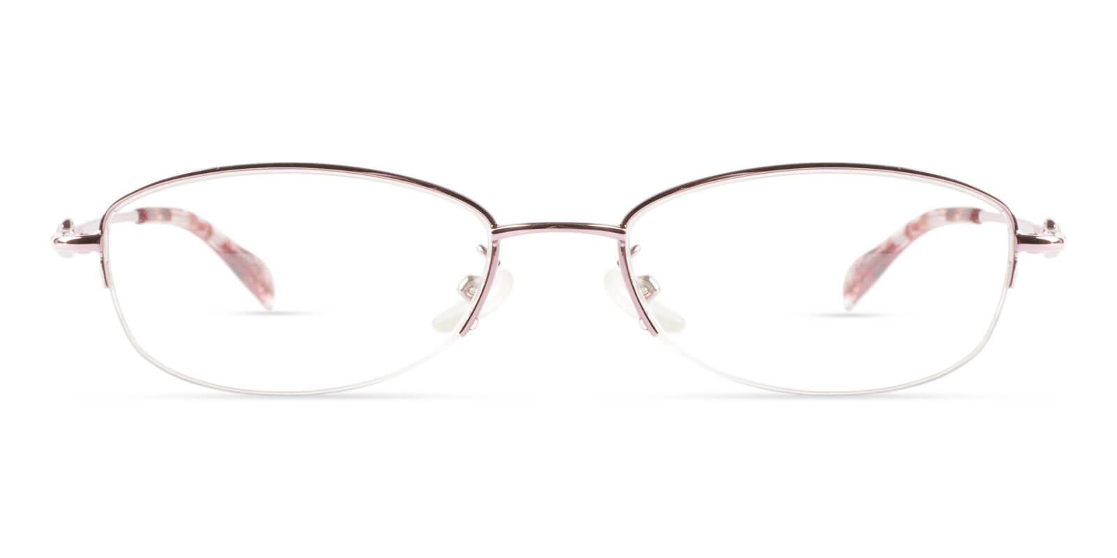 Grace Pink Metal Eyeglasses , NosePads Frames from ABBE Glasses