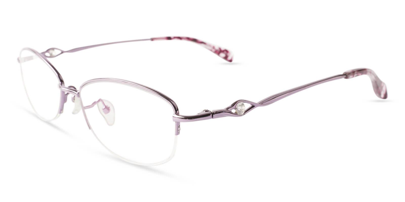 Grace Purple Metal Eyeglasses , NosePads Frames from ABBE Glasses