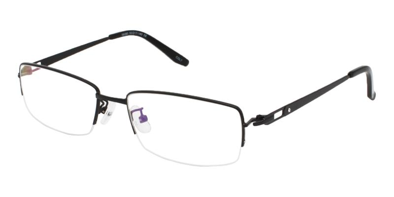 Black Andrew - Metal Eyeglasses , NosePads