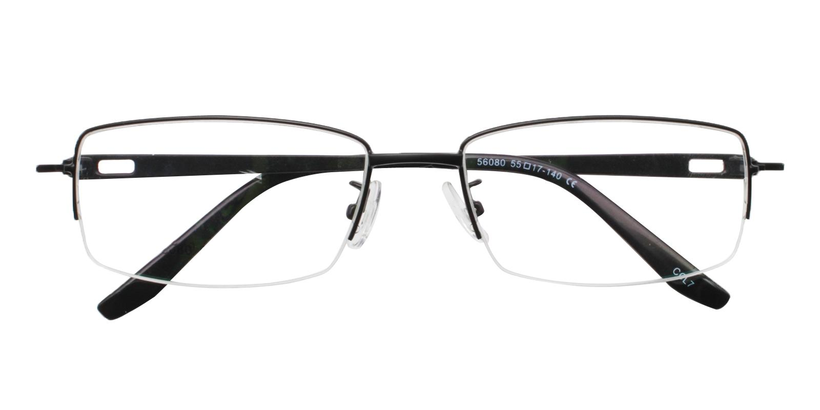 Andrew Black Metal Eyeglasses , NosePads Frames from ABBE Glasses