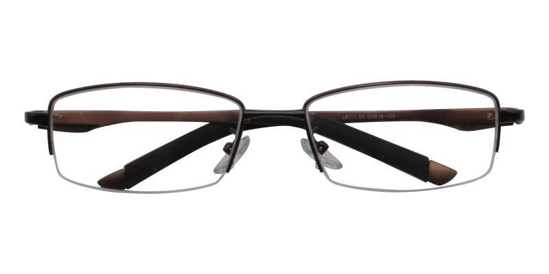 Brown Christian - Metal SpringHinges , Eyeglasses , NosePads