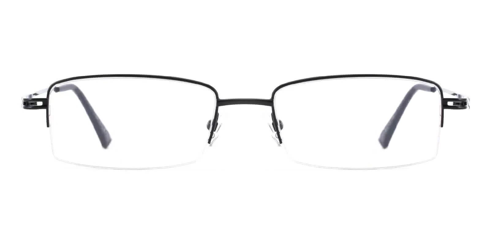 Connor Black Metal Eyeglasses , NosePads Frames from ABBE Glasses