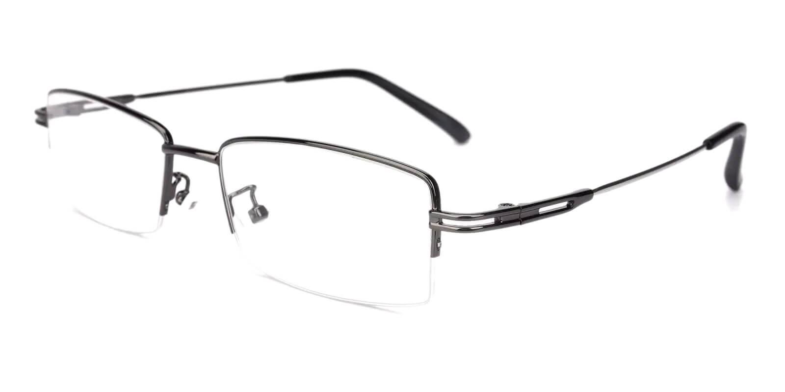 Connor Gun Metal NosePads , Eyeglasses Frames from ABBE Glasses