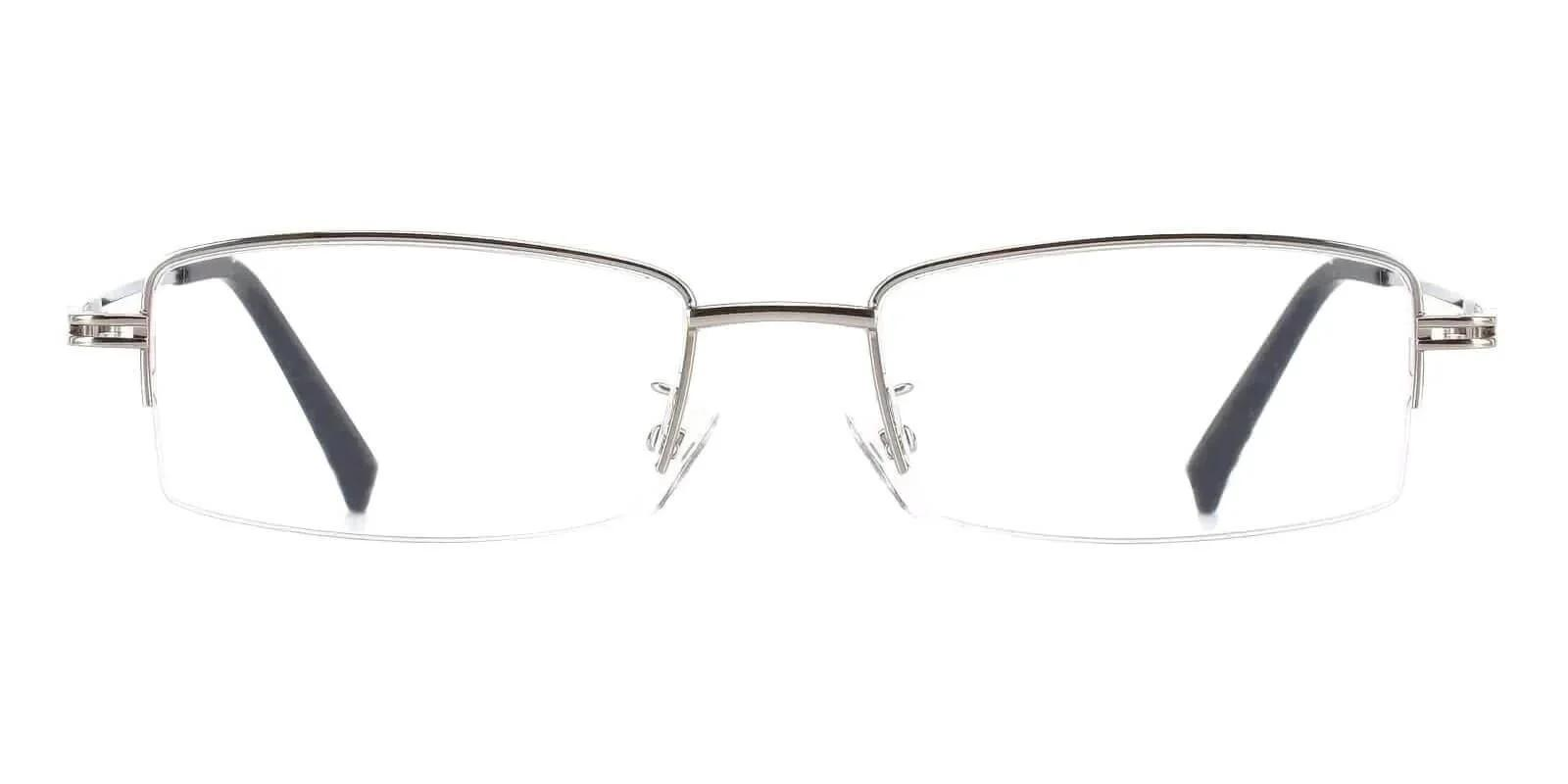 Connor Silver Metal Eyeglasses , NosePads Frames from ABBE Glasses