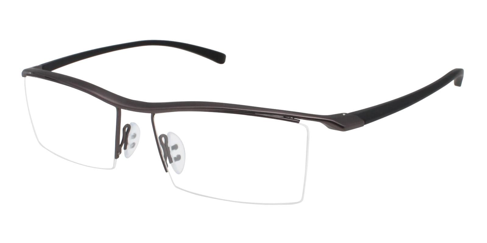 Thomas Gun Metal Eyeglasses , NosePads Frames from ABBE Glasses
