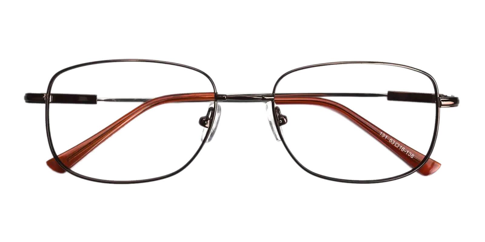 Dylan Brown Metal Eyeglasses , NosePads Frames from ABBE Glasses