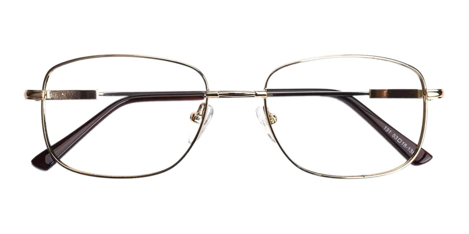Dylan Gold Metal Eyeglasses , NosePads Frames from ABBE Glasses