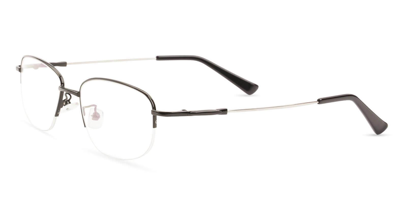 Joshua Black Metal Eyeglasses , NosePads Frames from ABBE Glasses
