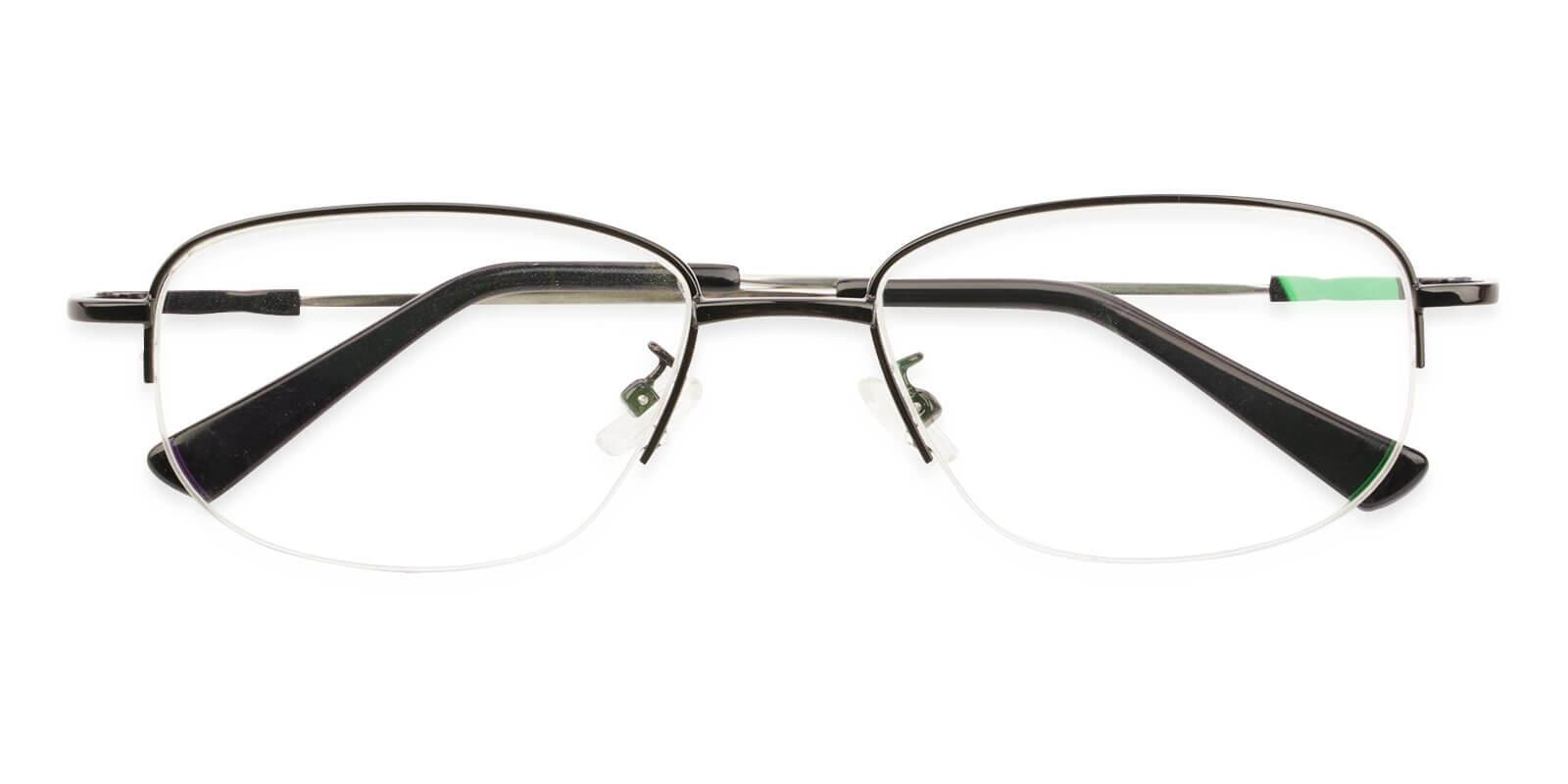 Joshua Black Metal Eyeglasses , NosePads Frames from ABBE Glasses