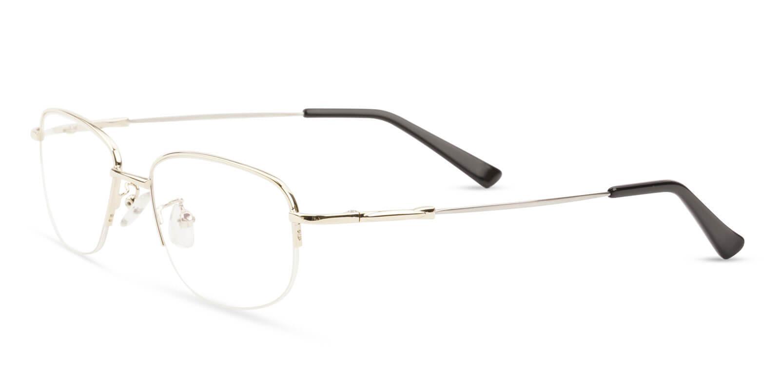 Joshua Gold Metal Eyeglasses , NosePads Frames from ABBE Glasses
