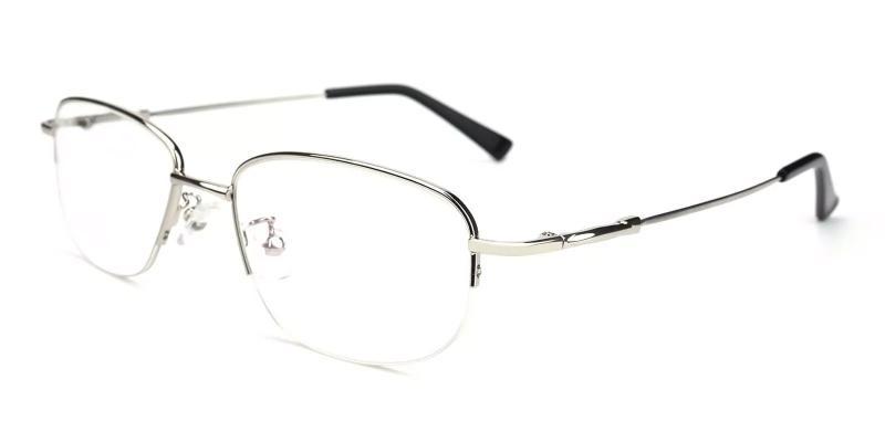 Silver Joshua - Metal Eyeglasses , NosePads
