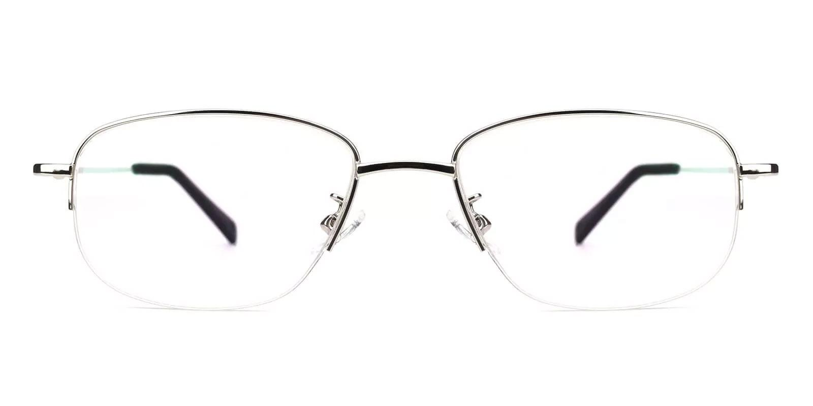 Joshua Silver Metal Eyeglasses , NosePads Frames from ABBE Glasses