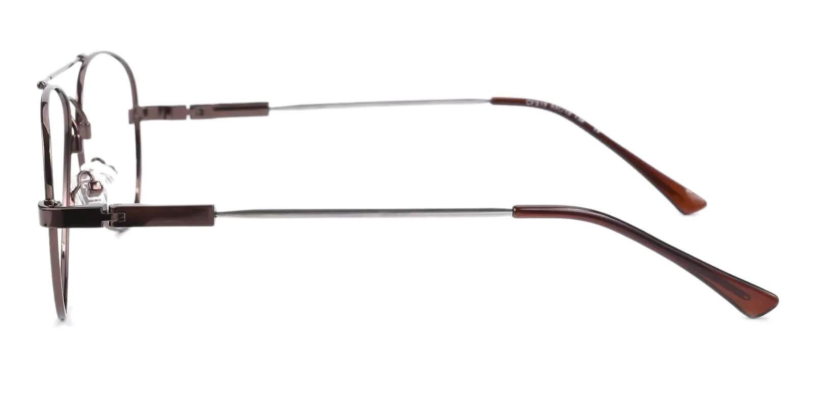 Hunter Brown Metal Eyeglasses , NosePads Frames from ABBE Glasses