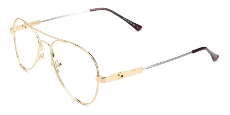 Gold Hunter - Metal Eyeglasses , NosePads