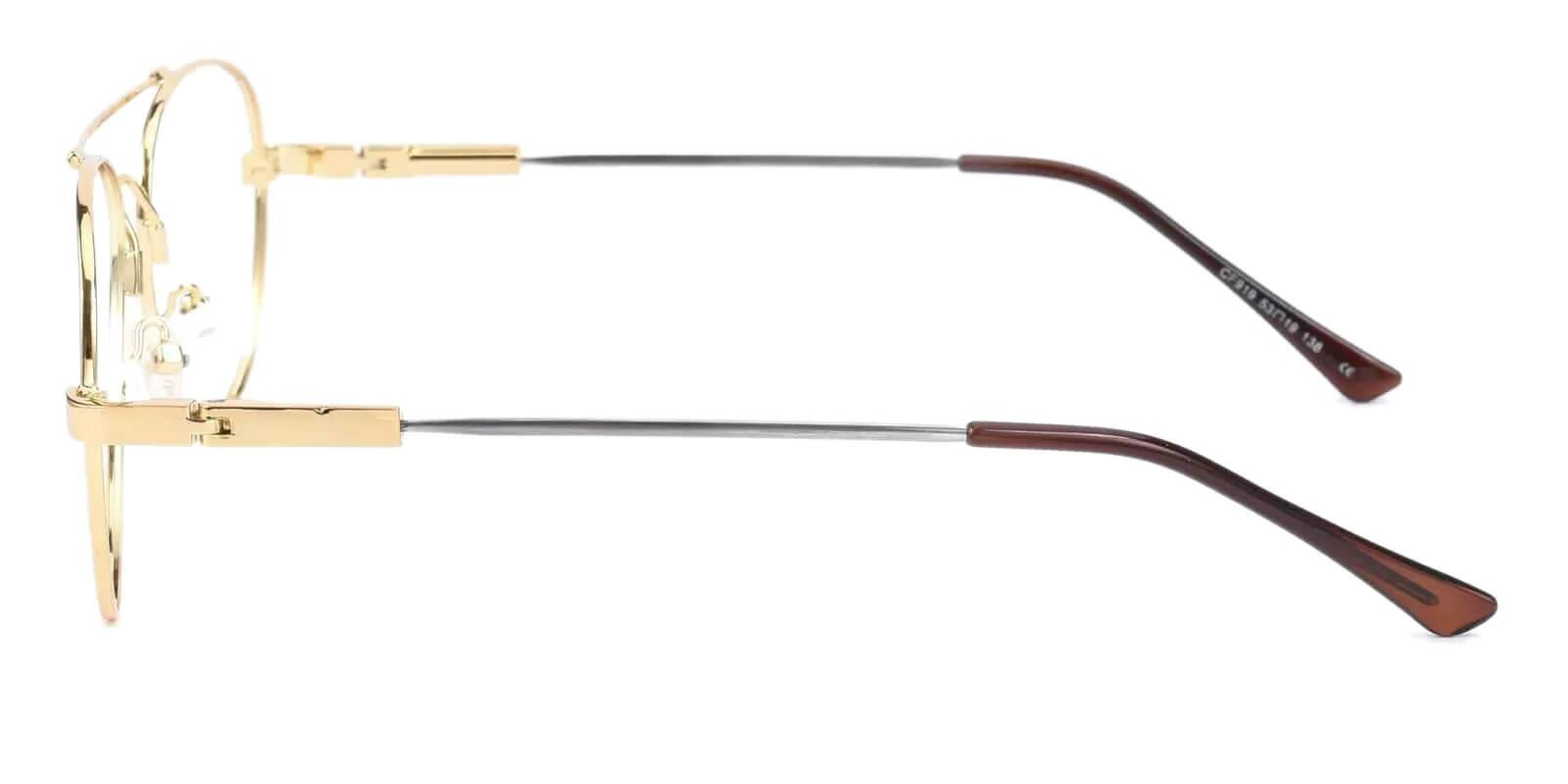 Hunter Gold Metal Eyeglasses , NosePads Frames from ABBE Glasses