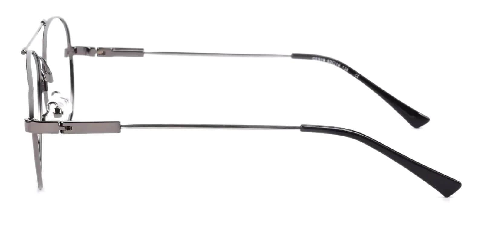 Hunter Gun Metal Eyeglasses , NosePads Frames from ABBE Glasses