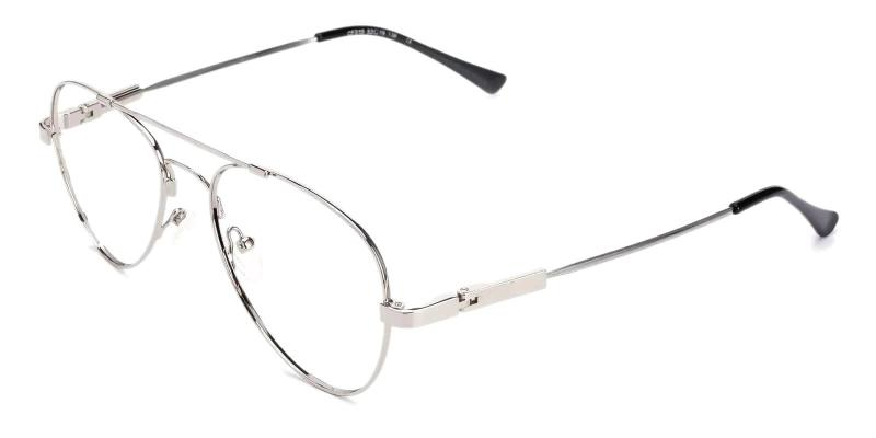 Silver Hunter - Metal Eyeglasses , NosePads