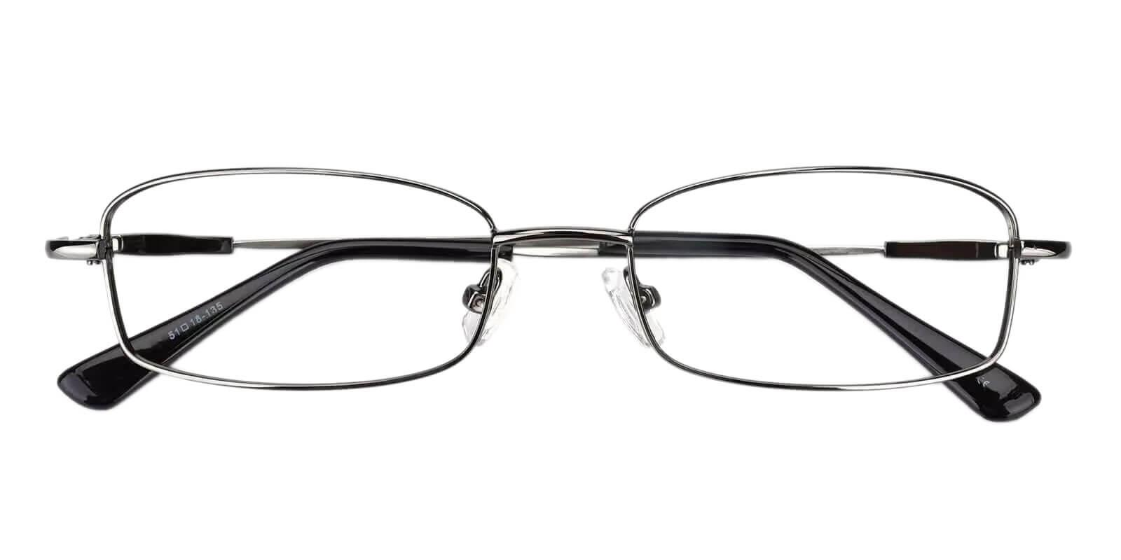 Healdton Gun Metal Eyeglasses , NosePads Frames from ABBE Glasses
