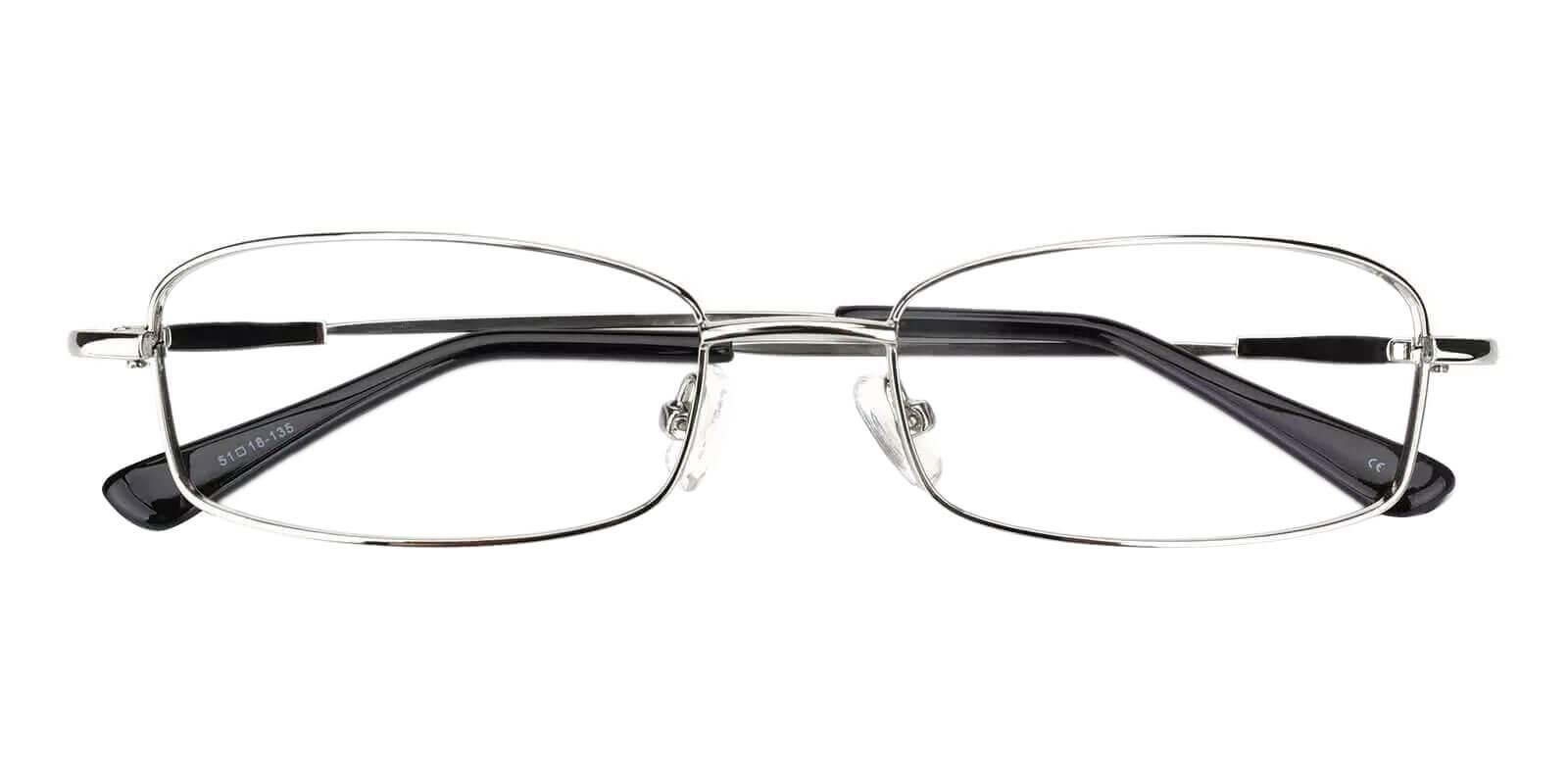 Healdton Silver Metal Eyeglasses , NosePads Frames from ABBE Glasses