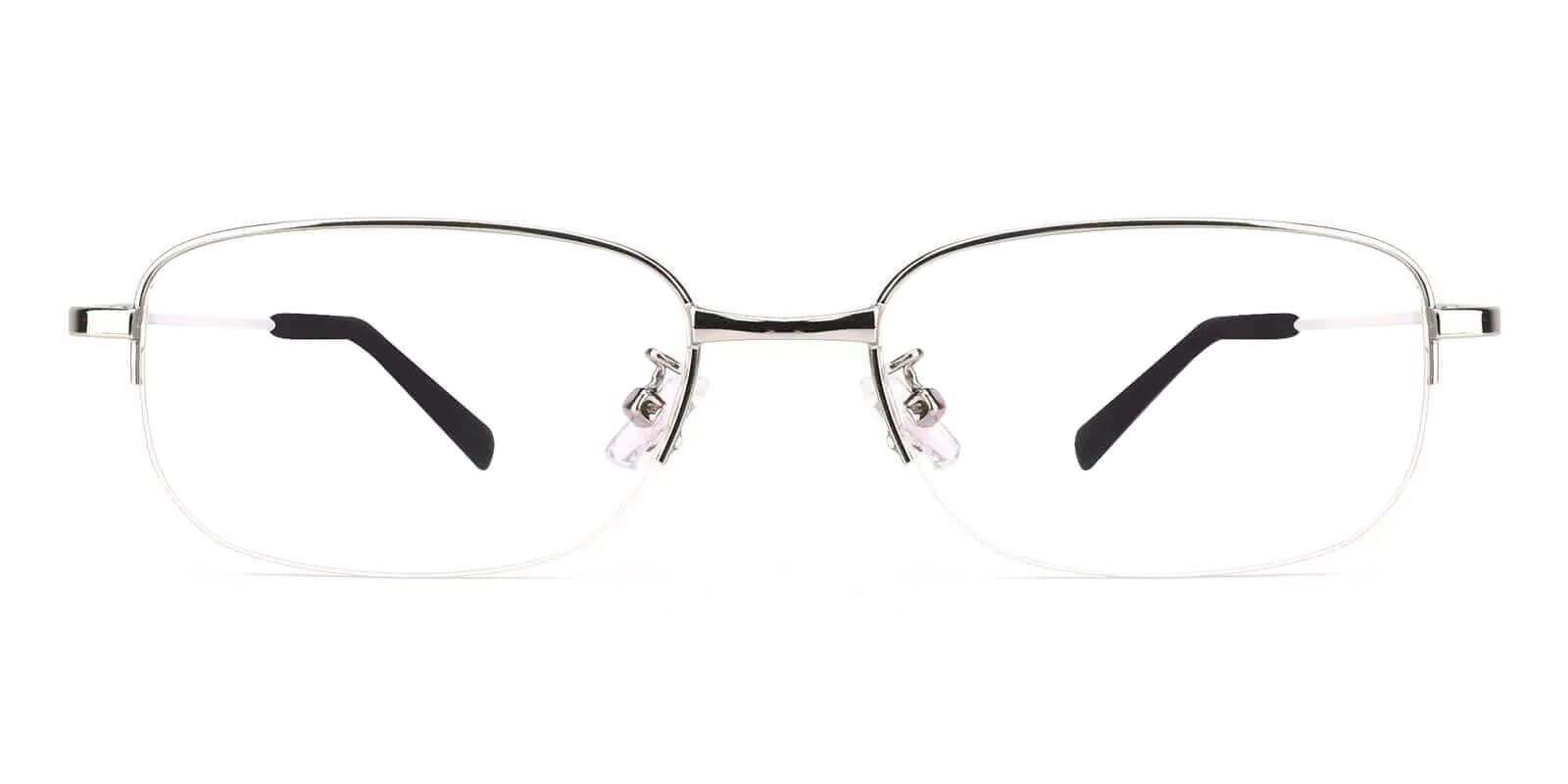 Saturn Silver Metal Eyeglasses , NosePads Frames from ABBE Glasses