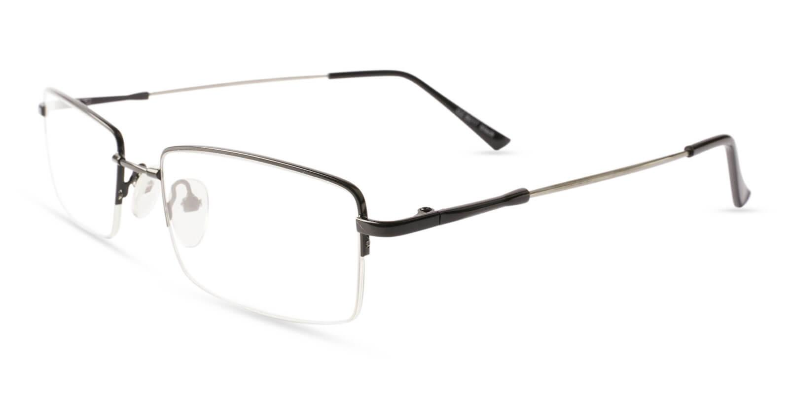 Ezra Black Metal Eyeglasses , NosePads Frames from ABBE Glasses