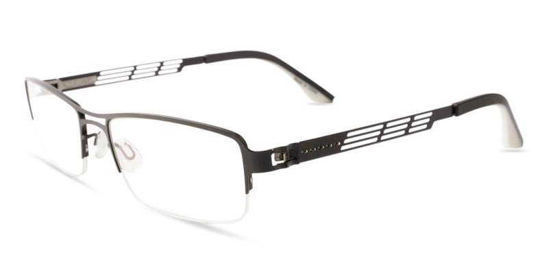 Black Caleb - Metal Eyeglasses , NosePads