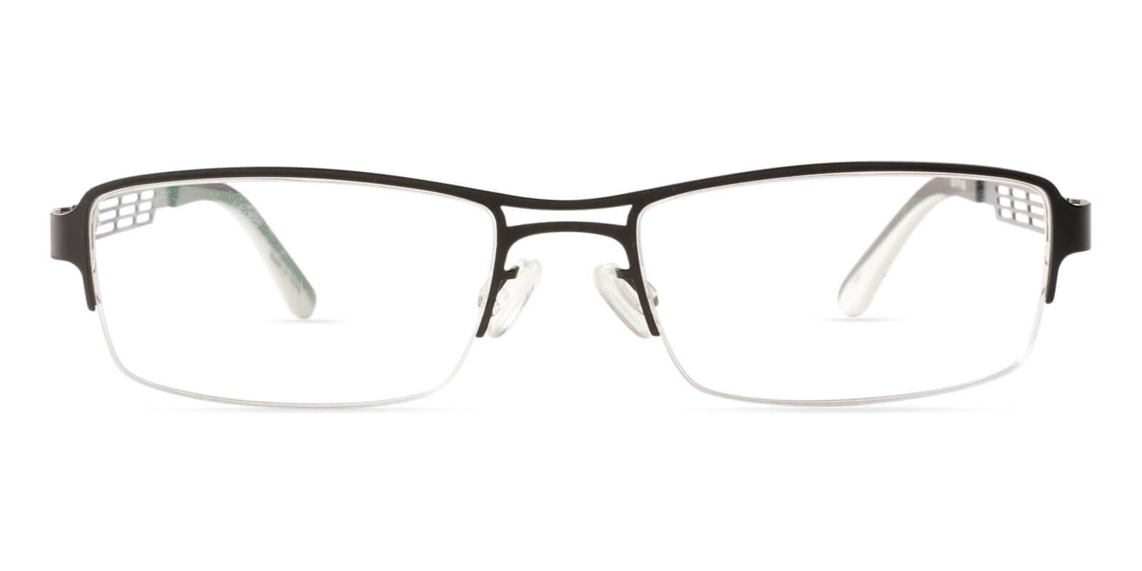 Caleb Black Metal Eyeglasses , NosePads Frames from ABBE Glasses
