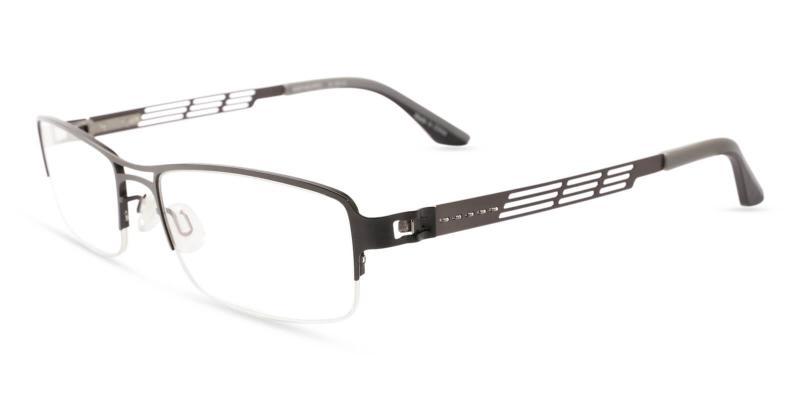 Gray Caleb - Metal Eyeglasses , NosePads