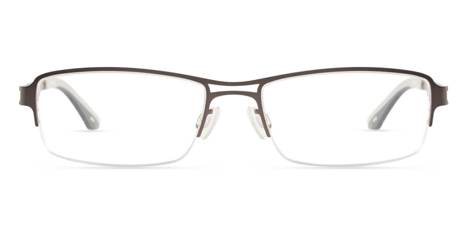 Caleb Gun Metal Eyeglasses , NosePads Frames from ABBE Glasses