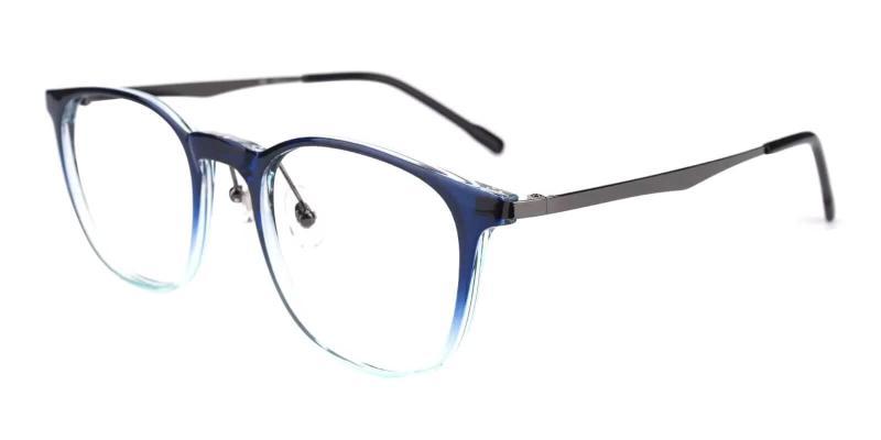 Blue Hebbville - TR Eyeglasses , Lightweight , NosePads
