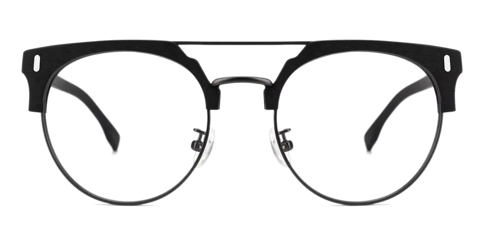 Woonsocket Black Combination NosePads , Eyeglasses Frames from ABBE Glasses
