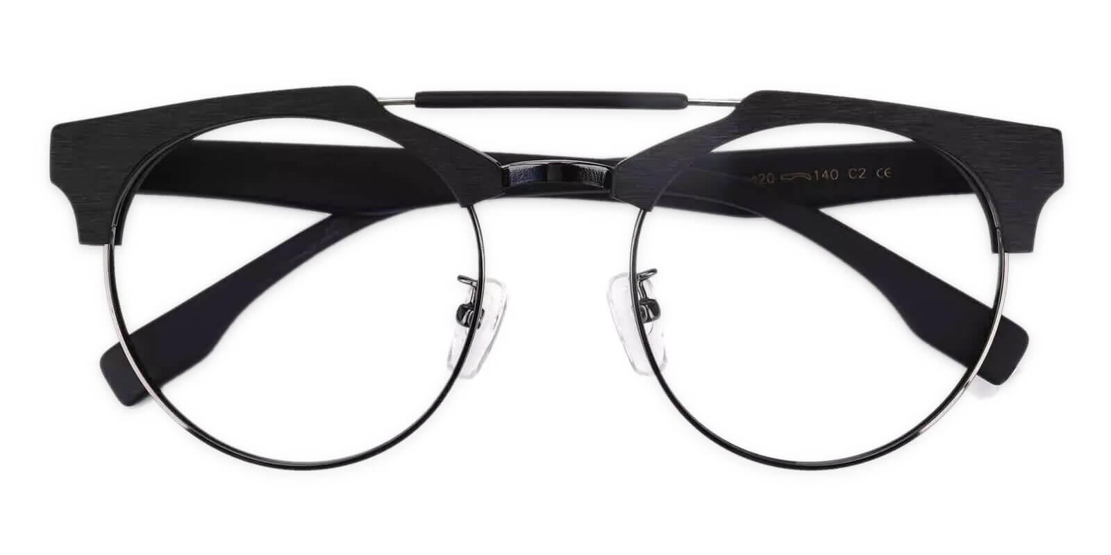 Orbisonia Black Combination Eyeglasses , NosePads Frames from ABBE Glasses