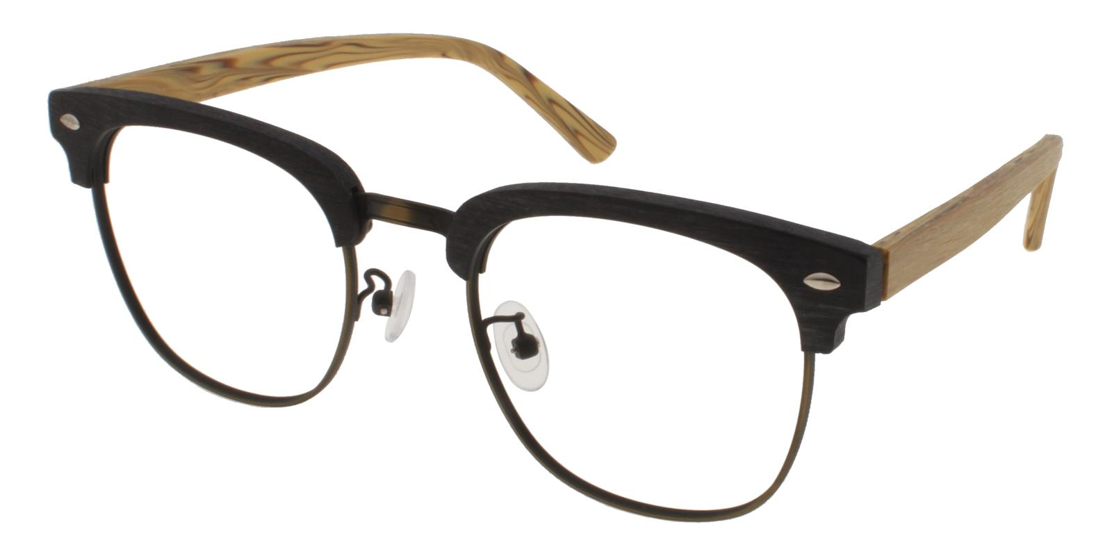 McNair Black Combination NosePads , Eyeglasses Frames from ABBE Glasses