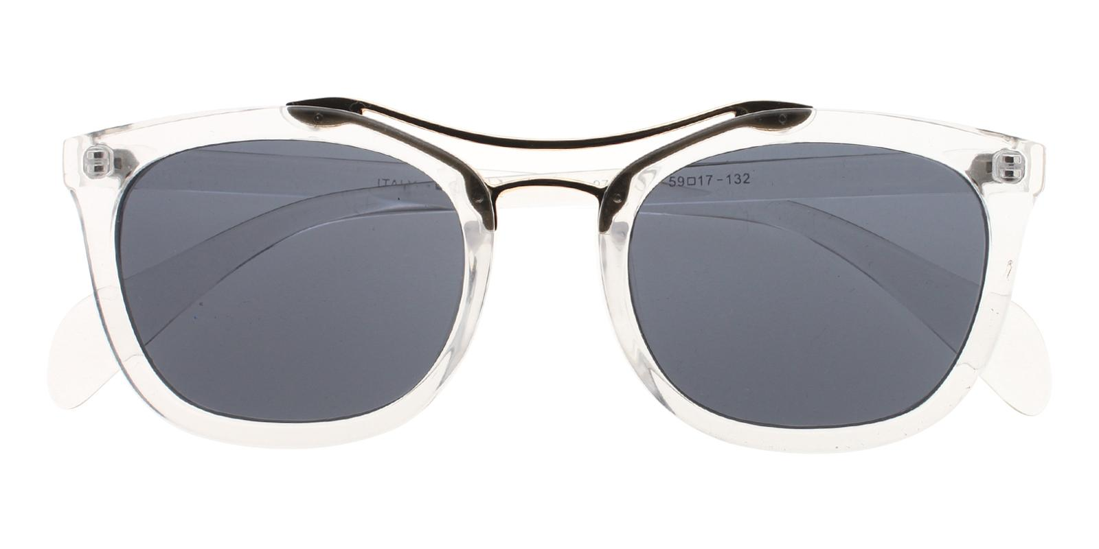 Minden Translucent Plastic Sunglasses , UniversalBridgeFit Frames from ABBE Glasses