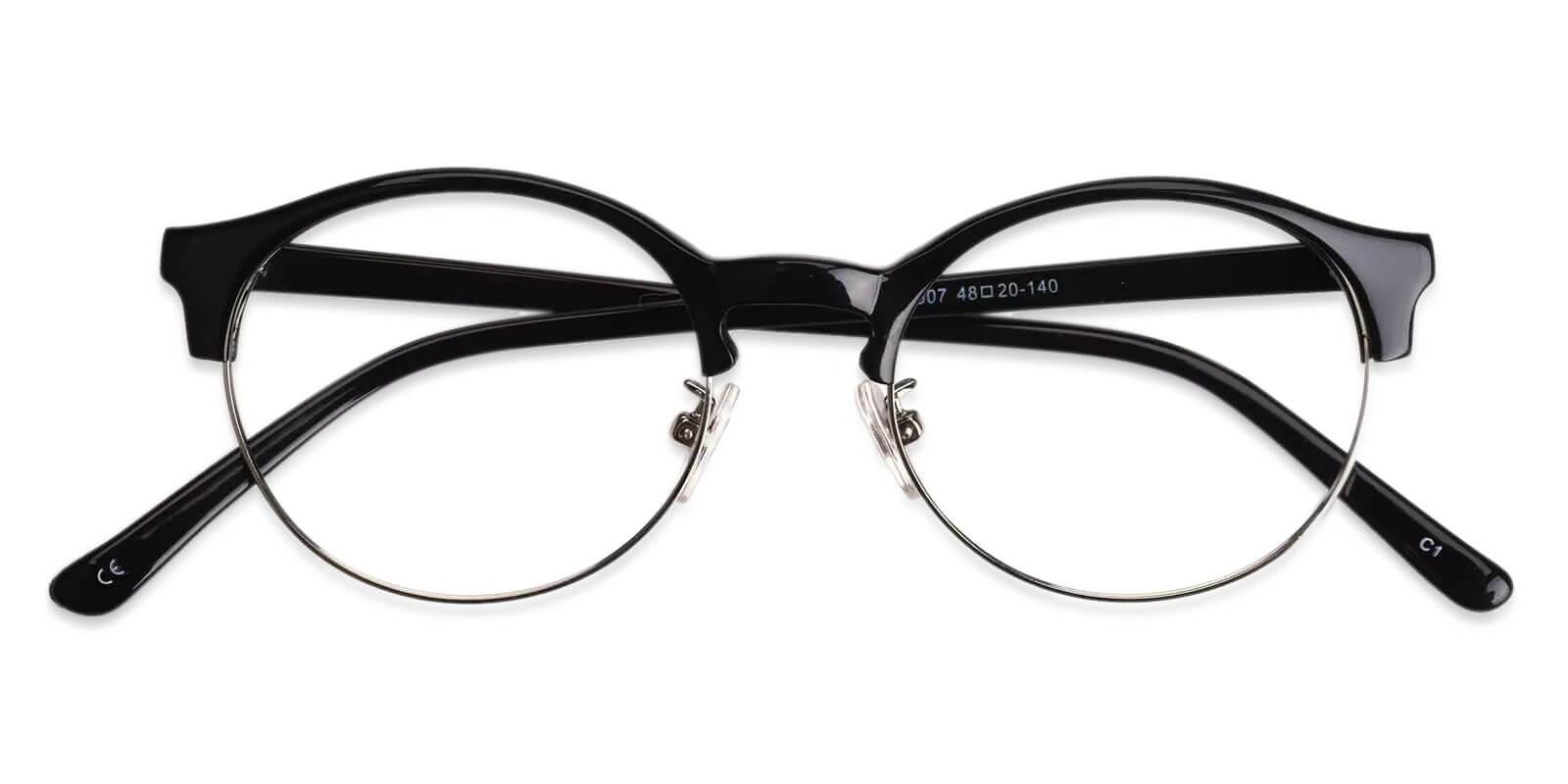 Zenoria Black Combination NosePads , Eyeglasses Frames from ABBE Glasses