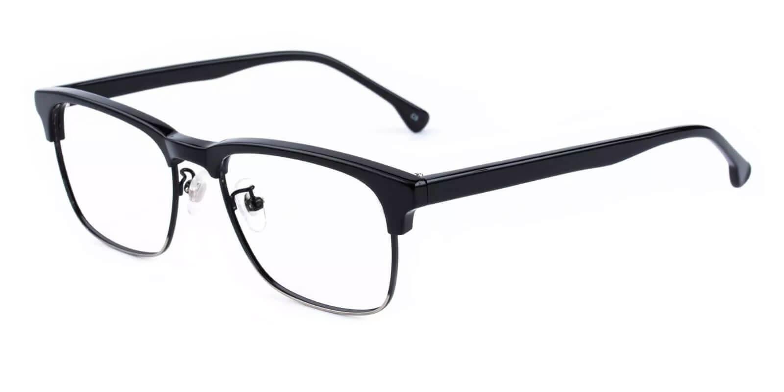 Joseph Black Combination Eyeglasses , NosePads Frames from ABBE Glasses