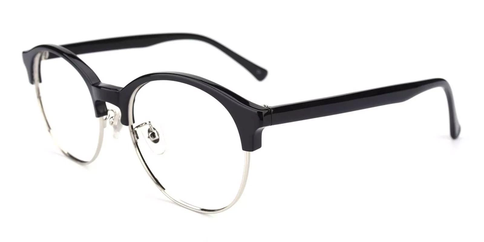 Pelsor Black Combination Eyeglasses , NosePads Frames from ABBE Glasses