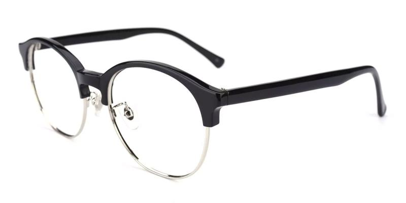 Black Pelsor - Combination Eyeglasses , NosePads