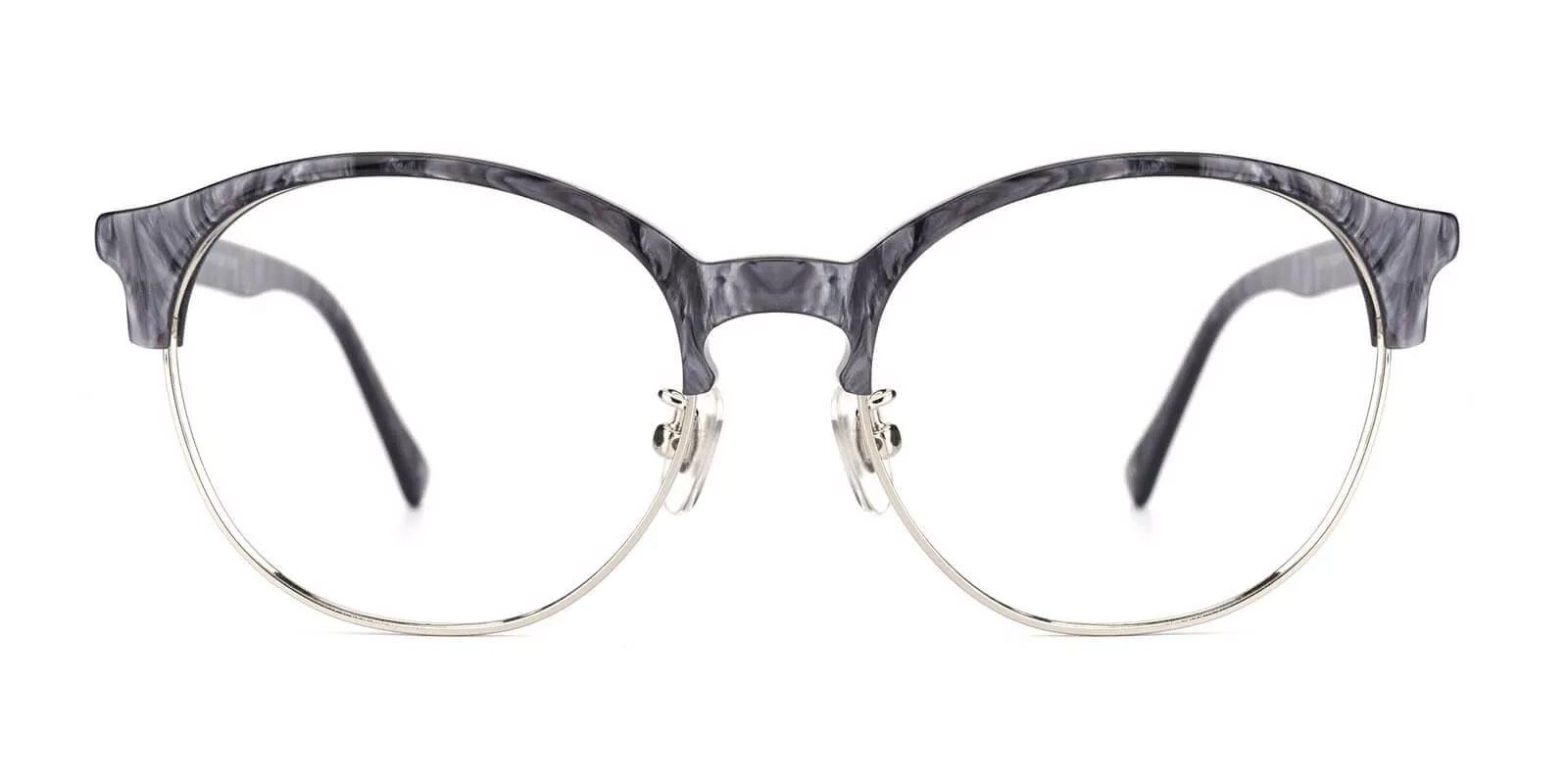 Pelsor Gray Combination Eyeglasses , NosePads Frames from ABBE Glasses