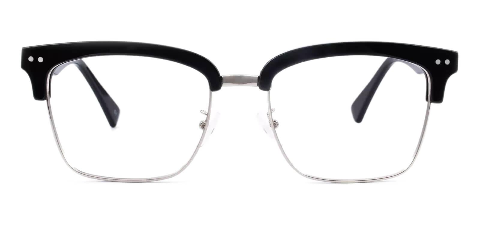 Theodosia Black Combination Eyeglasses , NosePads Frames from ABBE Glasses