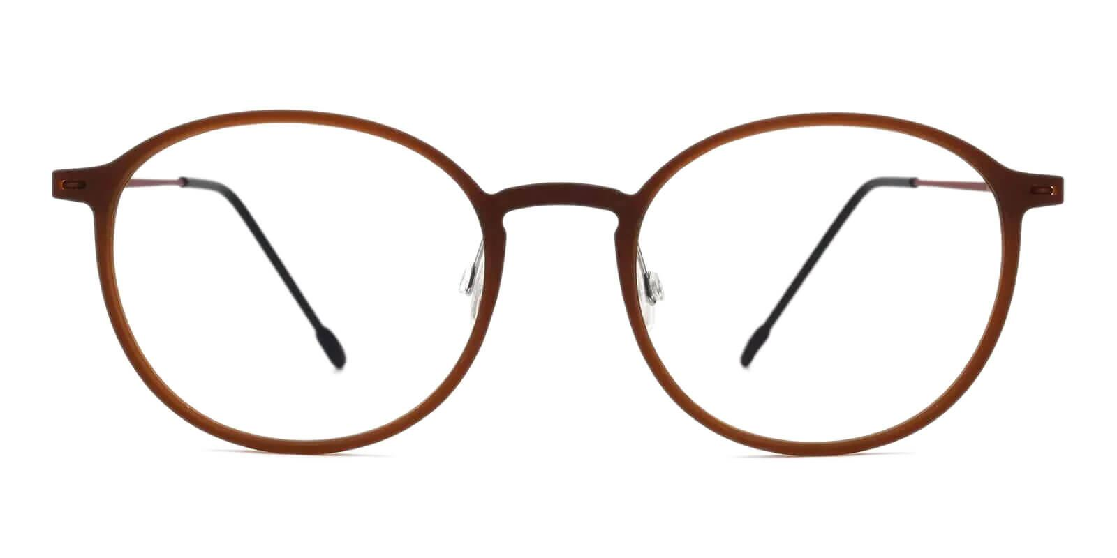 Yoga Brown Combination Eyeglasses , Lightweight , NosePads Frames from ABBE Glasses