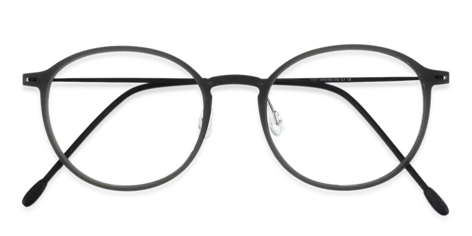 Yoga Gray Combination NosePads , Eyeglasses , Lightweight Frames from ABBE Glasses